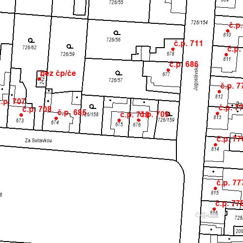 Katastrální mapa Stavební objekt Český Brod 710, Český Brod