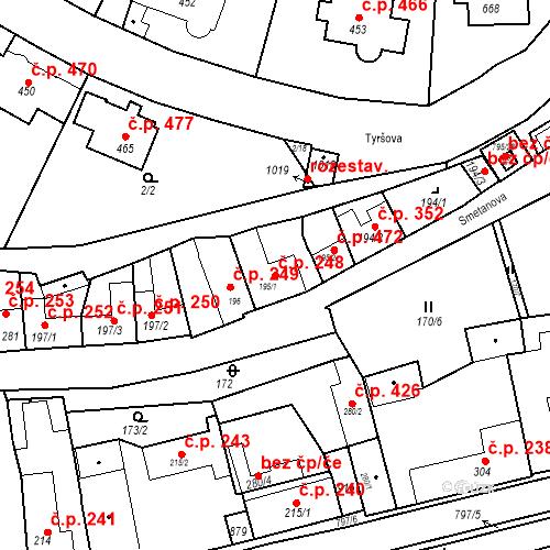 Katastrální mapa Stavební objekt Benátky nad Jizerou I 248, Benátky nad Jizerou
