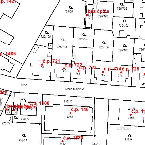 Katastrální mapa Stavební objekt Český Brod 723, Český Brod
