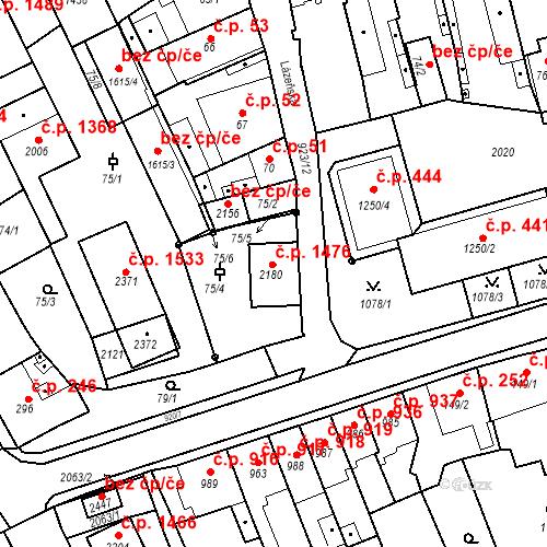 Katastrální mapa Stavební objekt Český Brod 1476, Český Brod