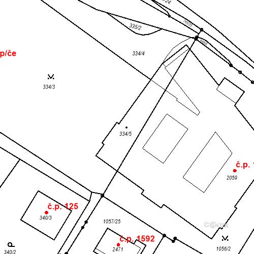 Katastrální mapa Stavební objekt Štolmíř 1378, Český Brod