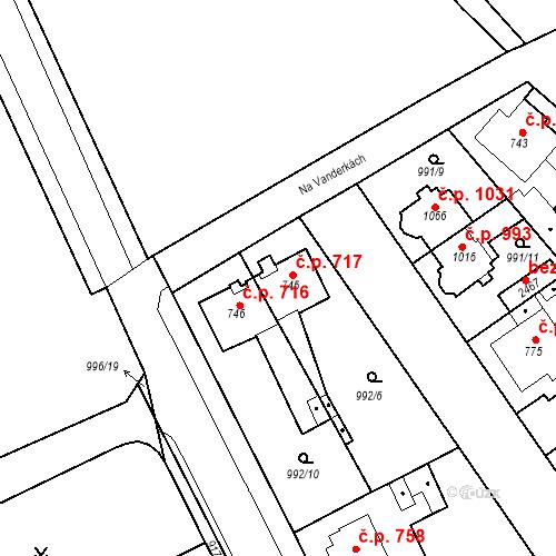 Katastrální mapa Stavební objekt Český Brod 717, Český Brod
