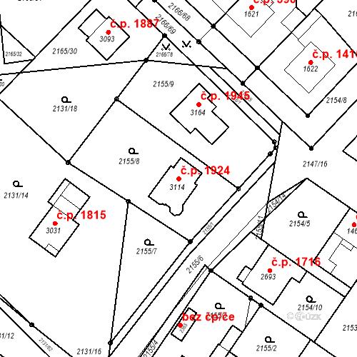 Katastrální mapa Stavební objekt Lysá nad Labem 1924, Lysá nad Labem