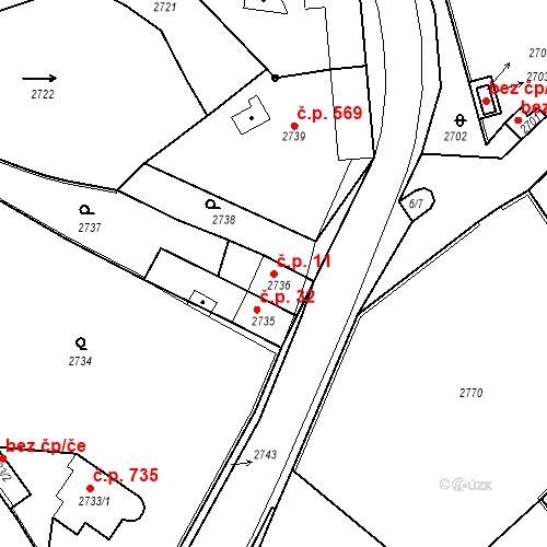 Katastrální mapa Stavební objekt Kostelec nad Černými lesy 11, Kostelec nad Černými lesy