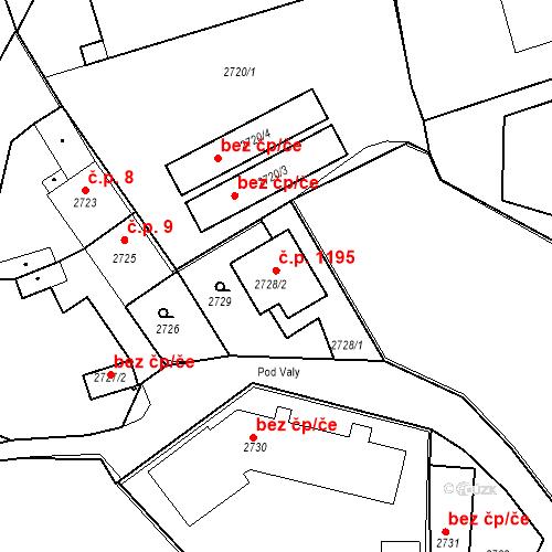 Katastrální mapa Stavební objekt Kostelec nad Černými lesy 10