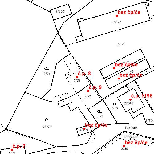 Katastrální mapa Stavební objekt Kostelec nad Černými lesy 8, Kostelec nad Černými lesy