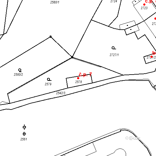 Katastrální mapa Stavební objekt Kostelec nad Černými lesy 7, Kostelec nad Černými lesy
