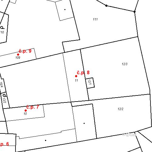 Katastrální mapa Stavební objekt Štolmíř 8, Český Brod
