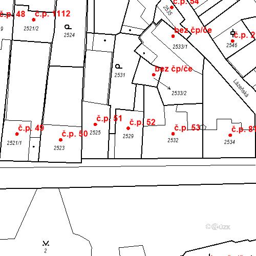 Katastrální mapa Stavební objekt Kostelec nad Černými lesy 52, Kostelec nad Černými lesy