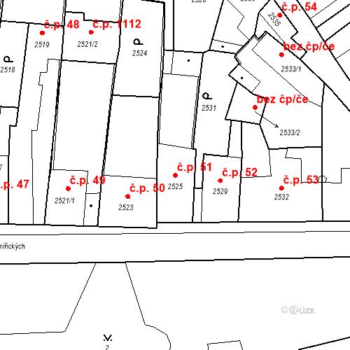 Katastrální mapa Stavební objekt Kostelec nad Černými lesy 51, Kostelec nad Černými lesy