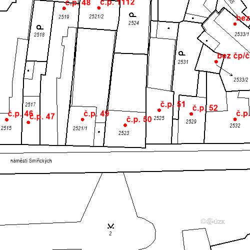 Katastrální mapa Stavební objekt Kostelec nad Černými lesy 50, Kostelec nad Černými lesy