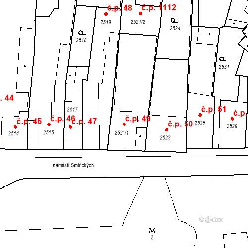 Katastrální mapa Stavební objekt Kostelec nad Černými lesy 49, Kostelec nad Černými lesy