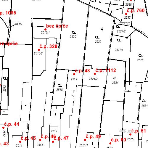 Katastrální mapa Stavební objekt Kostelec nad Černými lesy 48, Kostelec nad Černými lesy