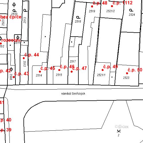 Katastrální mapa Stavební objekt Kostelec nad Černými lesy 47, Kostelec nad Černými lesy
