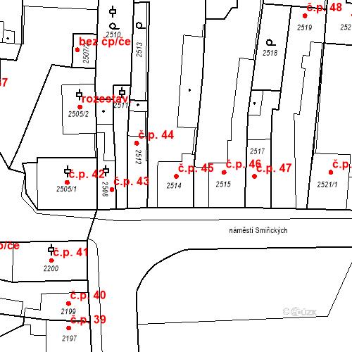 Katastrální mapa Stavební objekt Kostelec nad Černými lesy 45, Kostelec nad Černými lesy