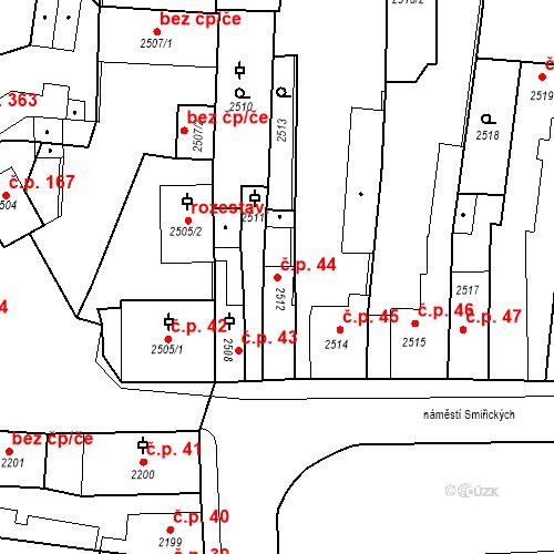 Katastrální mapa Stavební objekt Kostelec nad Černými lesy 44, Kostelec nad Černými lesy