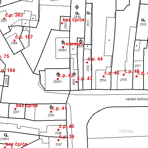 Katastrální mapa Stavební objekt Kostelec nad Černými lesy 43, Kostelec nad Černými lesy