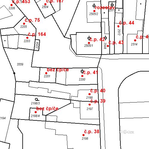 Katastrální mapa Stavební objekt Kostelec nad Černými lesy 41, Kostelec nad Černými lesy