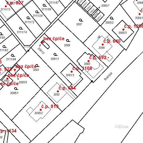Katastrální mapa Stavební objekt Jindřichův Hradec II 1108, Jindřichův Hradec