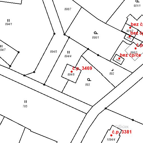 Katastrální mapa Stavební objekt Varnsdorf 3469, Varnsdorf