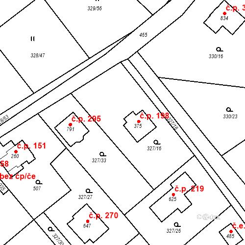 Katastrální mapa Stavební objekt Vyžlovka 198, Vyžlovka