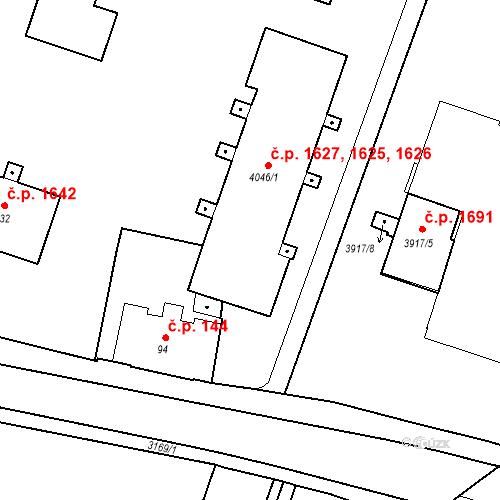 Katastrální mapa Stavební objekt Čelákovice 1625, 1626, 1627, Čelákovice