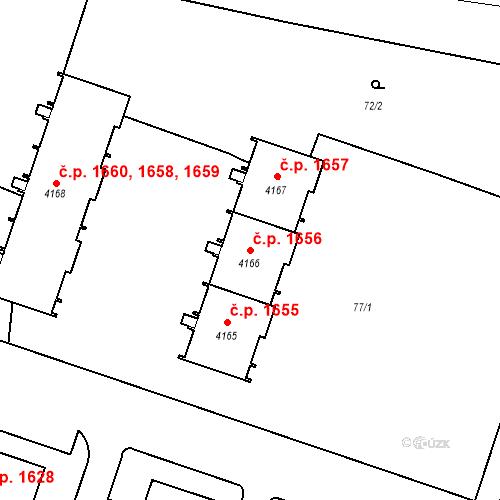 Katastrální mapa Stavební objekt Čelákovice 1656, Čelákovice