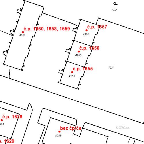 Katastrální mapa Stavební objekt Čelákovice 1655, Čelákovice