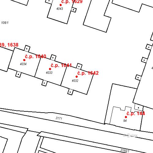 Katastrální mapa Stavební objekt Čelákovice 1642, Čelákovice