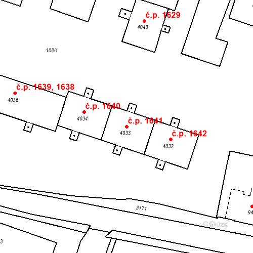 Katastrální mapa Stavební objekt Čelákovice 1641, Čelákovice