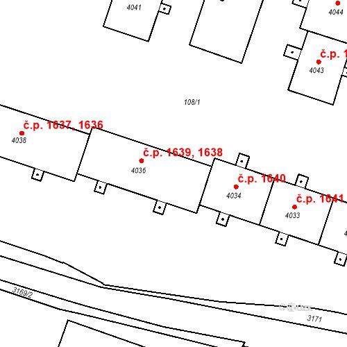 Katastrální mapa Stavební objekt Čelákovice 1639, Čelákovice