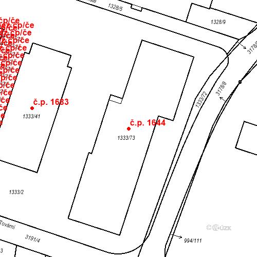 Katastrální mapa Stavební objekt Čelákovice 1644, Čelákovice