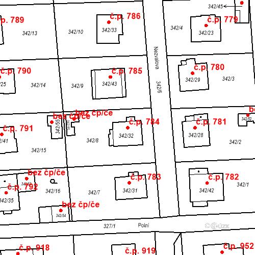 Katastrální mapa Stavební objekt Doksy 784, Doksy