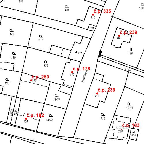 Katastrální mapa Stavební objekt Jiřetín pod Jedlovou 178, Jiřetín pod Jedlovou