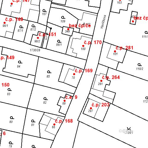 Katastrální mapa Stavební objekt Jiřetín pod Jedlovou 169, Jiřetín pod Jedlovou