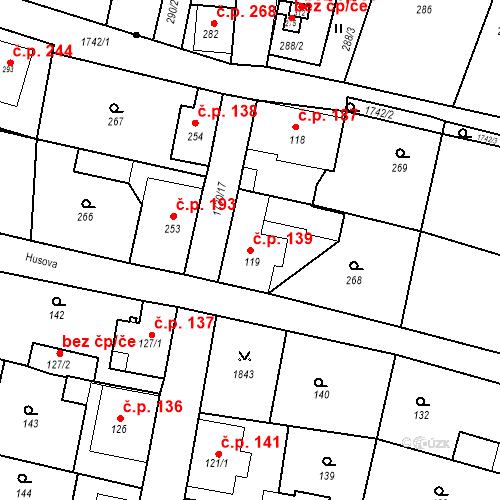 Katastrální mapa Stavební objekt Jiřetín pod Jedlovou 139, Jiřetín pod Jedlovou
