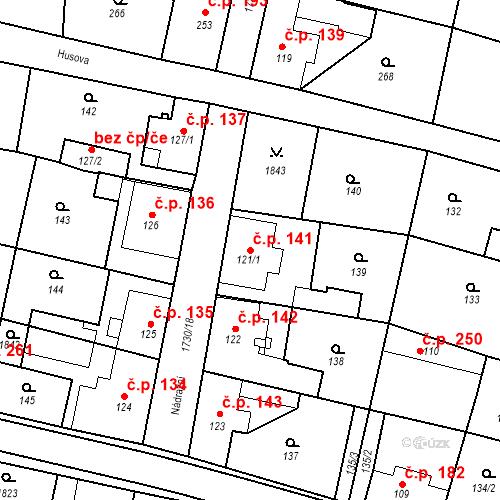 Katastrální mapa Stavební objekt Jiřetín pod Jedlovou 141, Jiřetín pod Jedlovou