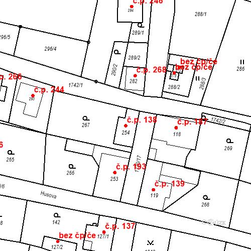 Katastrální mapa Stavební objekt Jiřetín pod Jedlovou 138, Jiřetín pod Jedlovou