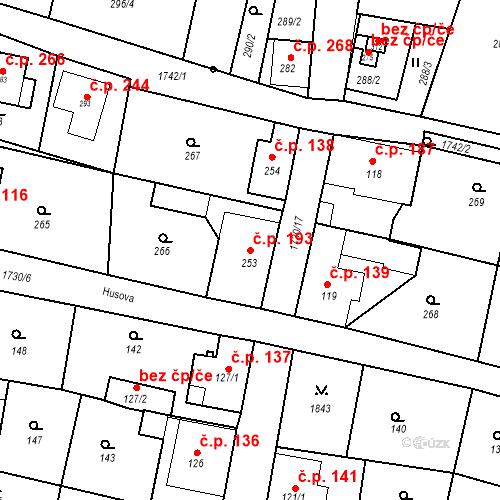 Katastrální mapa Stavební objekt Jiřetín pod Jedlovou 193, Jiřetín pod Jedlovou