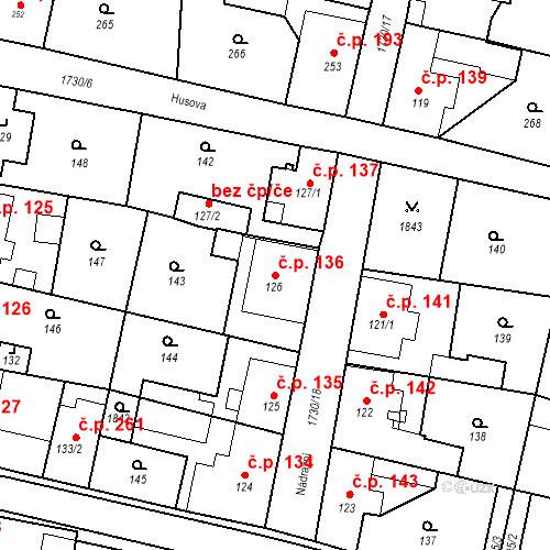 Katastrální mapa Stavební objekt Jiřetín pod Jedlovou 136, Jiřetín pod Jedlovou