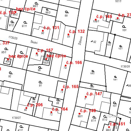 Katastrální mapa Stavební objekt Jiřetín pod Jedlovou 166, Jiřetín pod Jedlovou