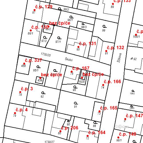 Katastrální mapa Stavební objekt Jiřetín pod Jedlovou 167, Jiřetín pod Jedlovou