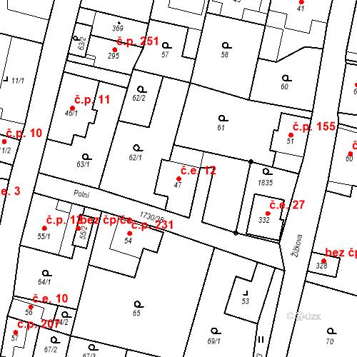 Katastrální mapa Stavební objekt Jiřetín pod Jedlovou 12, Jiřetín pod Jedlovou