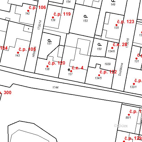 Katastrální mapa Stavební objekt Jiřetín pod Jedlovou 4, Jiřetín pod Jedlovou