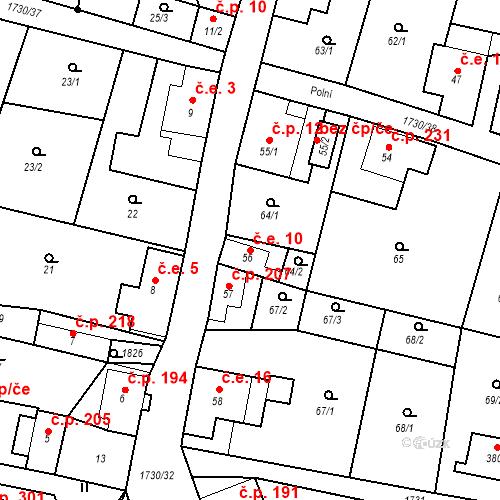 Katastrální mapa Stavební objekt Jiřetín pod Jedlovou 10, Jiřetín pod Jedlovou