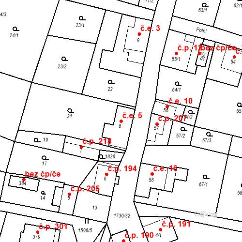 Katastrální mapa Stavební objekt Jiřetín pod Jedlovou 5, Jiřetín pod Jedlovou