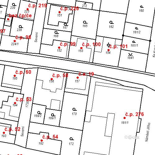 Katastrální mapa Stavební objekt Jiřetín pod Jedlovou 19, Jiřetín pod Jedlovou