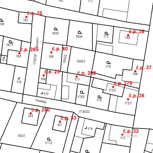 Katastrální mapa Stavební objekt Jiřetín pod Jedlovou 202, Jiřetín pod Jedlovou