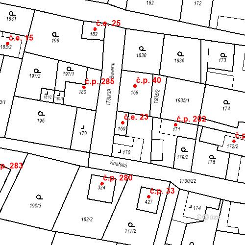 Katastrální mapa Stavební objekt Jiřetín pod Jedlovou 23, Jiřetín pod Jedlovou