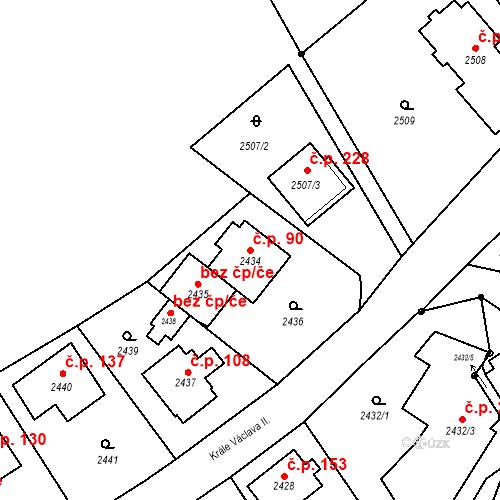 Katastrální mapa Stavební objekt Staré Splavy 90, Doksy